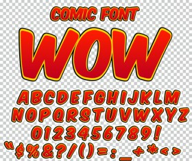 Comic styles alphabet with numbers and symbol vector set 05