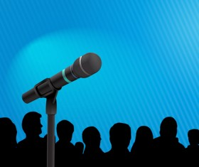 Conference microphones business template vector 08