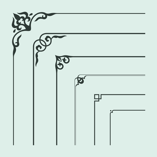 Corner Ornament Chinese Styles Vector 14 Vector Ornament