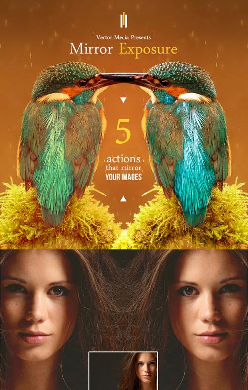 Creative Mirror Exposure Photoshop Actions - Photoshop Action free ...