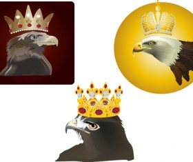 Crown with eagle head vector