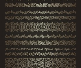 Decorative golden borders vectors