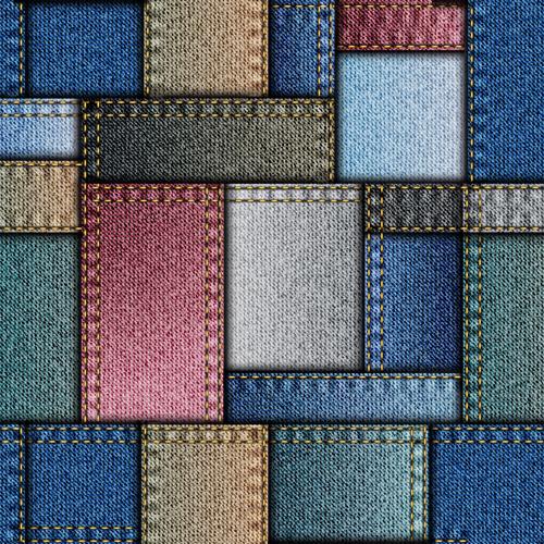 Denim fabric seamless vector pattern 01