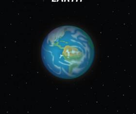 Earth art background vector