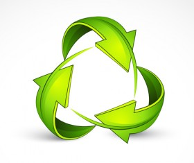 Ecological cycle icons with arrows vector set 03