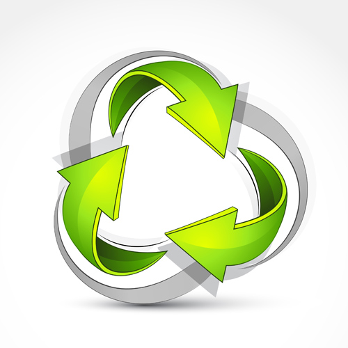 Ecological cycle icons with arrows vector set 05