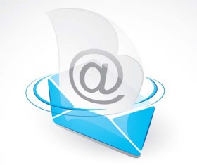 Email letter icons shininy vector 03