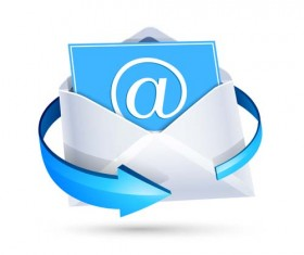 Email letter with arrow icons vector 01