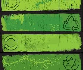 Environmental Retro style banner vector