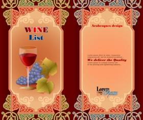 Exquisite wine labels template vector design 02