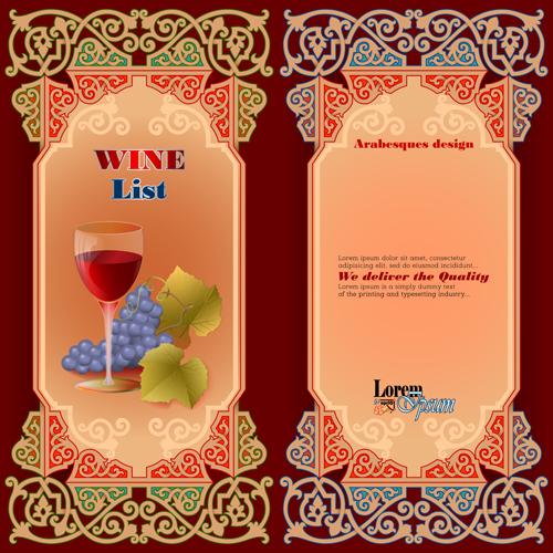exquisite wine labels template vector design 02 free download