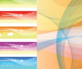 Fantasy style banners with background vector