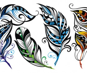 Feather abstract vectors material 02