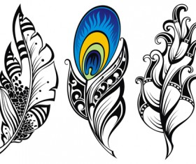 Feather abstract vectors material 04