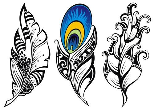 Line Art Feather : Feather abstract vectors material vector other free download