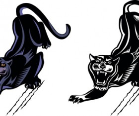 Fierce panther vector material 01