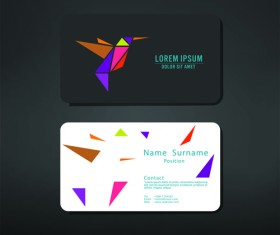 Fillet business cards vector material 04