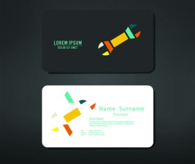 Fillet business cards vector material 07
