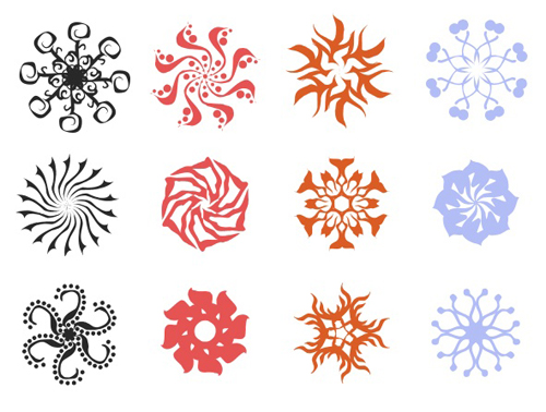 Floral Pattern Photoshop Shapes set