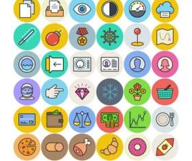Free life flat icons set