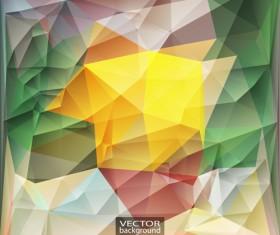 Geometric embossment effect backgrounds vector set 05