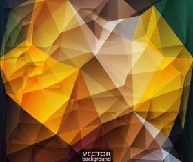 Geometric embossment effect backgrounds vector set 06