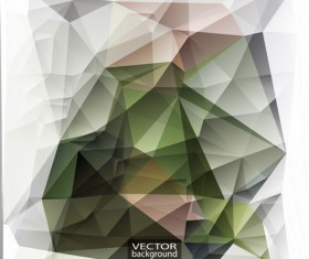Geometric embossment effect backgrounds vector set 07