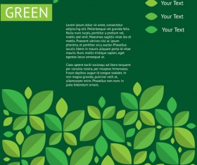 Green ecology template background vectors 07
