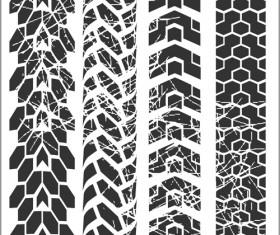 Grunge tire tracks design vector 01