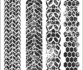 Grunge tire tracks design vector 02