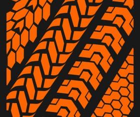 Grunge tire tracks design vector 03