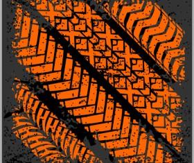 Grunge tire tracks design vector 06
