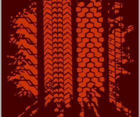 Grunge tire tracks design vector 07