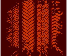 Grunge tire tracks design vector 08