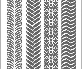 Grunge tire tracks design vector 09