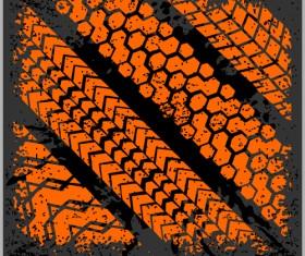 Grunge tire tracks design vector 11
