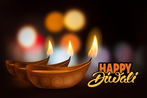 Happy diwali ethnic styles background vectors vector