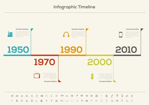Infographic Timeline Vector Template 01 - Vector Business Free