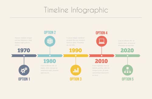 Infographic Timeline Vector Template   Vector Business Free