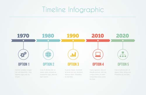 infographic timeline vector template 04 free download