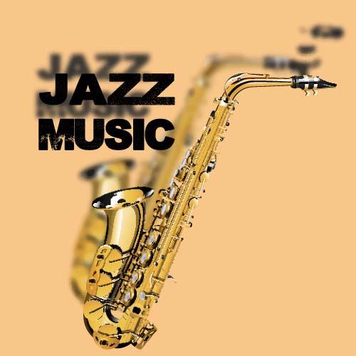Jazz music creative background vector 02 - Vector ...