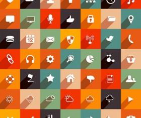 Life necessary small icons set