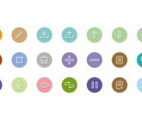 Linear color icons set