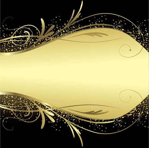 Luxury Gold With Black Background Vector