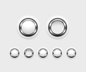 Metal web button circular vector
