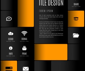 Mobile interface layout vector material 09