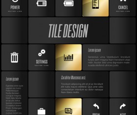 Mobile interface layout vector material 11