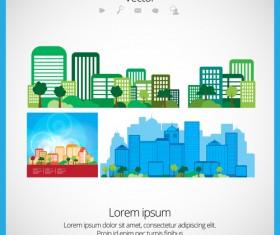 Modern Urban Landscapes set vectors 01