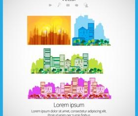 Modern Urban Landscapes set vectors 02