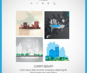 Modern Urban Landscapes set vectors 04